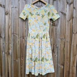 LulaRoe Yellow Floral Amelia Dress